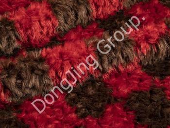 8HW0119-Brown and red brushed rabbit hair