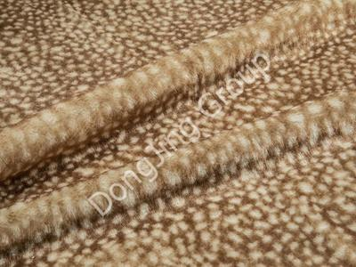 9G0560-Off-white deer print faux fur fabric