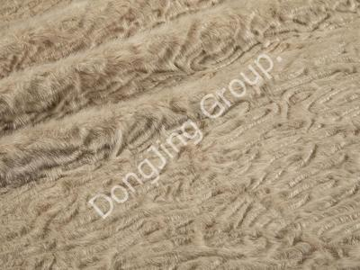9P2352-Beige washed and brushed rabbit fur faux fur fabric